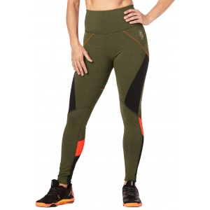 Legginsy damskie sportowe zielone STRONG Train To The Beat