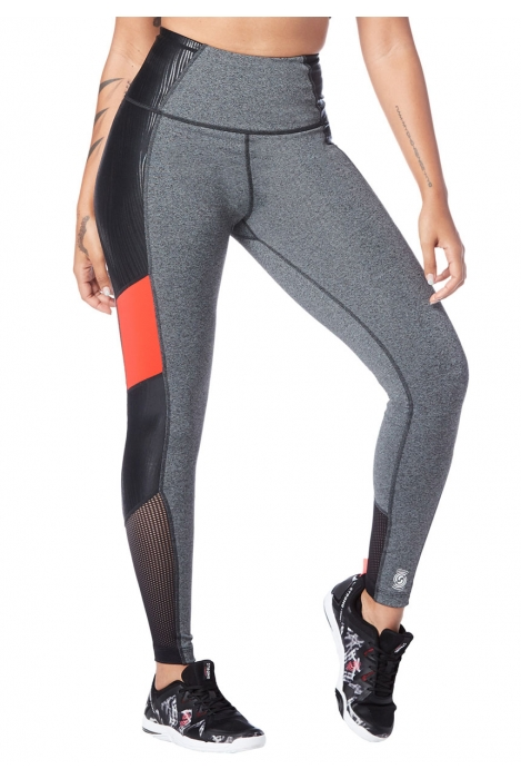 Legginsy damskie sportowe szare STRONG Don't Miss a Beat
